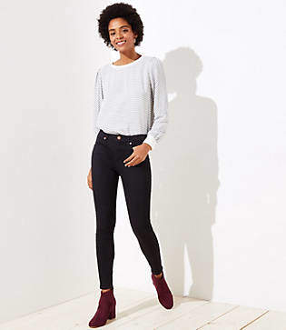 LOFT Petite Denim Leggings in Black