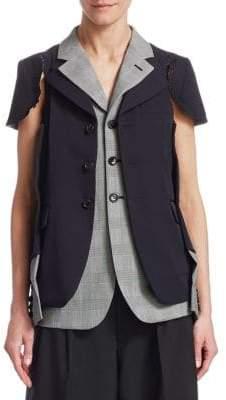 Comme des Garcons Wool Cap-Sleeve Vest