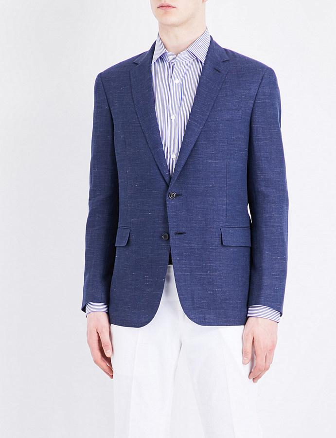 Ralph Lauren Purple LabelRalph Lauren Purple Label Regular-fit linen and wool-blend twill jacket