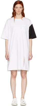 Sjyp SSENSE Exclusive White and Black California Club T-Shirt Dress