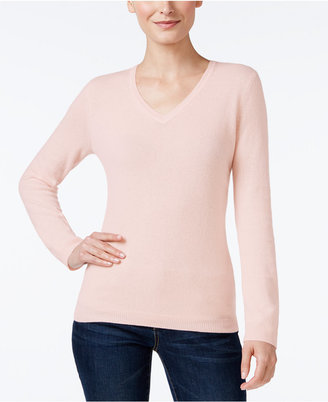 Charter Club Cashmere V-Neck Sweater, Only at Macy's, 18 Colors Available $139 thestylecure.com