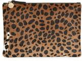 051e143b51bc Clare Vivier Leopard Print Genuine Calf Hair Clutch