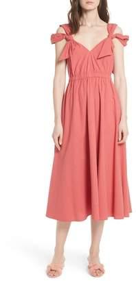 Rebecca Taylor Cold Shoulder Seersucker Dress