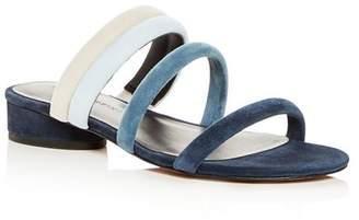 Rebecca Minkoff Women's Kade Color-Block Suede Slide Sandals