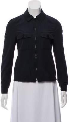 Burberry Nova Check-Trimmed Zip Front Jacket