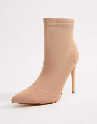 Missguided heeled sock boots