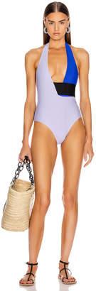Sebastien Anne Swimsuit in Light Purple & Blue   FWRD