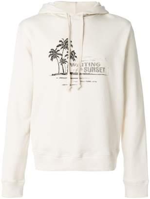 Saint Laurent sunset drawstring hoodie