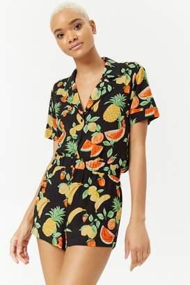 Forever 21 Tropical Fruit Shorts