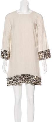 Burberry Stud-Embellished Linen Dress