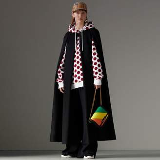 Burberry Long Doeskin Wool Cape , Size: XS/S, Black