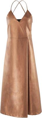 Lake Studio Wrap Front Midi Dress