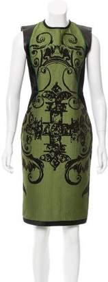 Aquilano Rimondi Aquilano.Rimondi Leather Paneled Sheath Dress