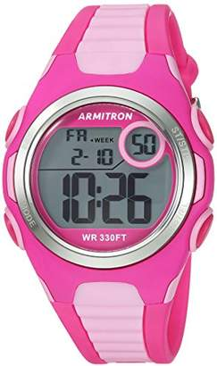 Armitron Sport Women's 45/7076MAG Digital Chronograph Light and Magenta Resin Strap Watch