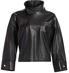 3.1 Phillip Lim Women's Leather Zippered Blouse