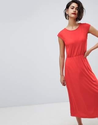 Vero Moda Midi Dress With Trim