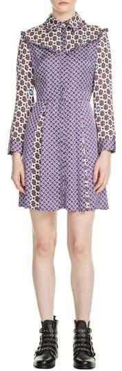 Reed Mixed Pattern Dress