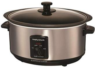 Morphy Richards 48701 3.5L Slow Cooker - Stainless Steel
