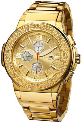 JBW Men's Saxon Diamond & Crystal Watch