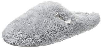 Dearfoams Women's Plush Clog w/Memory Foam Open Back Slippers,XL 42/45 EU