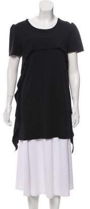 Miu Miu Ruffled Short Sleeve Tunic