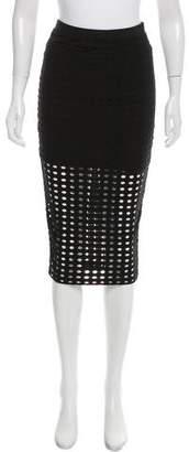 Alexander Wang Knee-Length Cutout Skirt