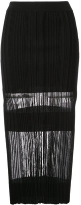 Dion Lee Opacity pleat skirt