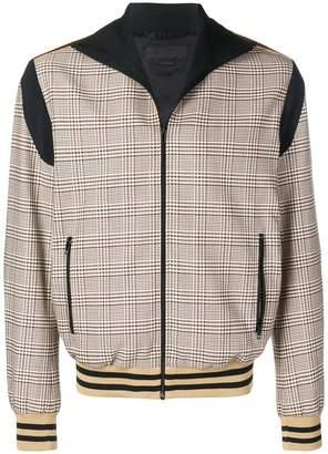 Stella McCartney zipped check bomber jacket