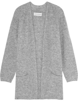 By Malene Birger - Belinta Brushed Ribbed-knit Cardigan - Gray $450 thestylecure.com