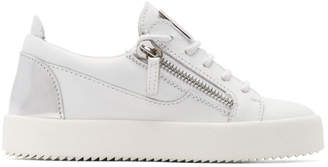 Giuseppe Zanotti White and Silver May London Sneakers