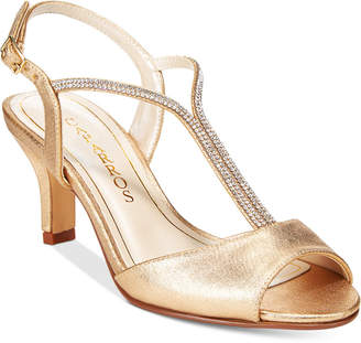 Caparros Delicia T-Strap Evening Sandals $79 thestylecure.com