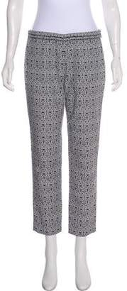 Tory Burch Printed Mid-Rise Pants