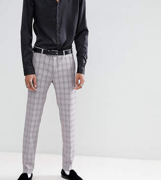 Heart & Dagger skinny suit pants in check