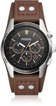 Fossil Coachman Chronograph Brown Leather Men's Watch