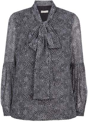 MICHAEL Michael Kors Feather Print Blouse