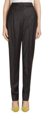 Alberta Ferretti High-Waist Wool-Blend Trousers