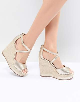 Dune Espadrille Wedge in Gold
