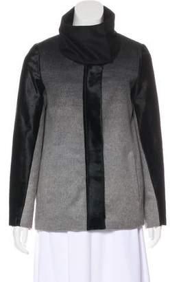 Helmut Lang Fur-Trimmed Wool Jacket