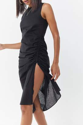Third Form Straight Out Sleeveless Ruched Dress