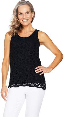 Kelly By Clinton Kelly Kelly by Clinton Kelly Sleeveless Lace Front Knit Top