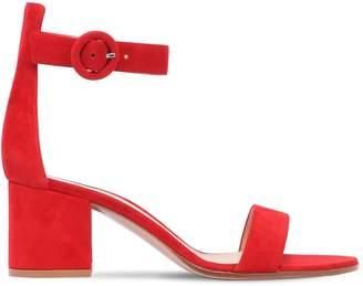Gianvito Rossi 60mm Portofino Block Heel Suede Sandals