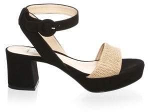 LK Bennett Block Heel Leather Platform Sandals