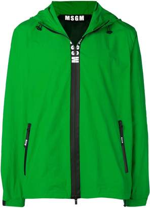 MSGM hooded zip-up jacket