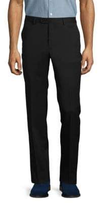 John Varvatos Solid Woolen French- Bearer Pants