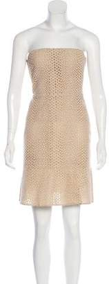 Giambattista Valli Eyelet Strapless Dress