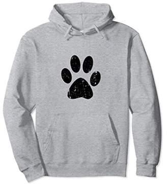 Dog Lover Paw Print Vintage Style Hoodie Print