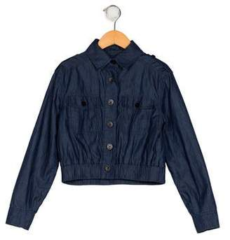 Karl Lagerfeld Girls' Chambray Jacket
