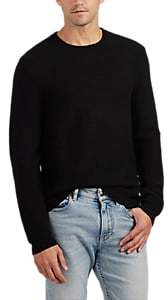 Barneys New York MEN'S RIBBED WOOL SWEATER - BLACK SIZE L