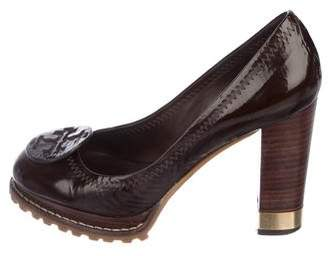 Tory Burch Leather Round-Toe Pumps