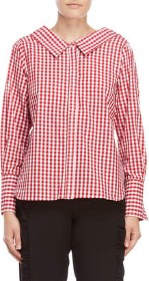 Norr Red Liz Gingham Shirt